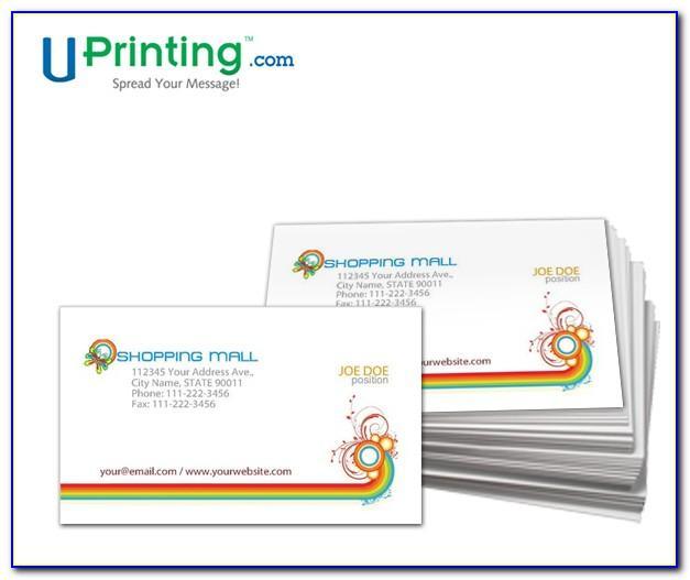 Vistaprint Business Card Size Dimensions