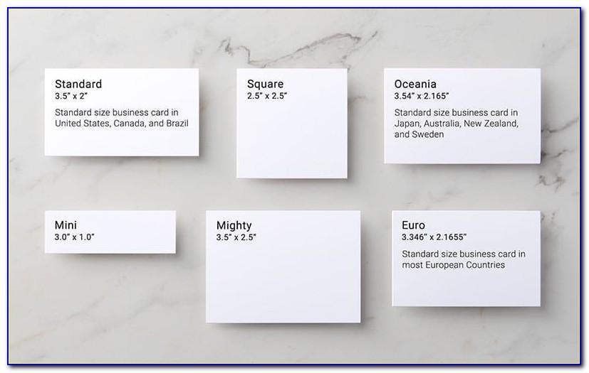 Vistaprint Business Card Size Template