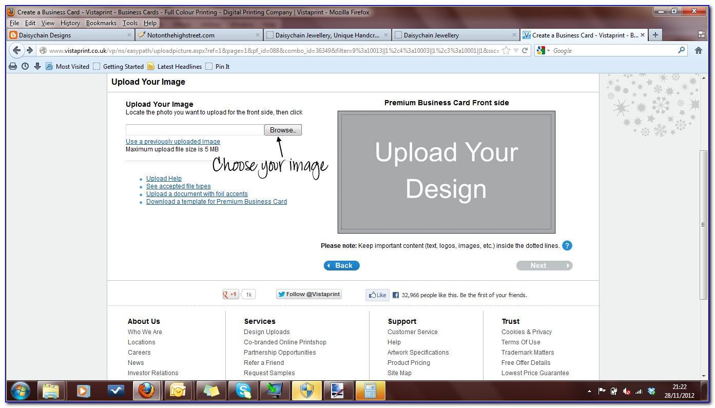 Vistaprint Business Card Template Psd Download