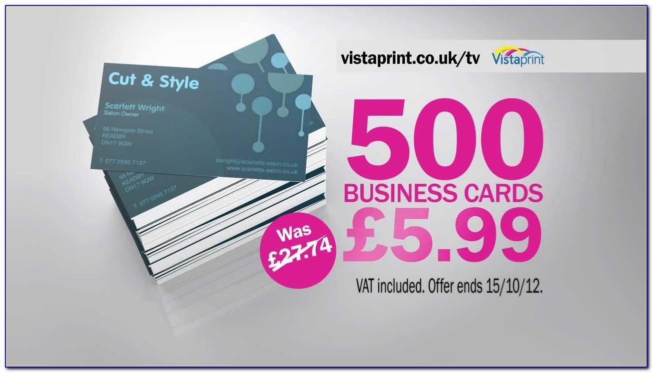 Vistaprint Business Cards 500 For 999