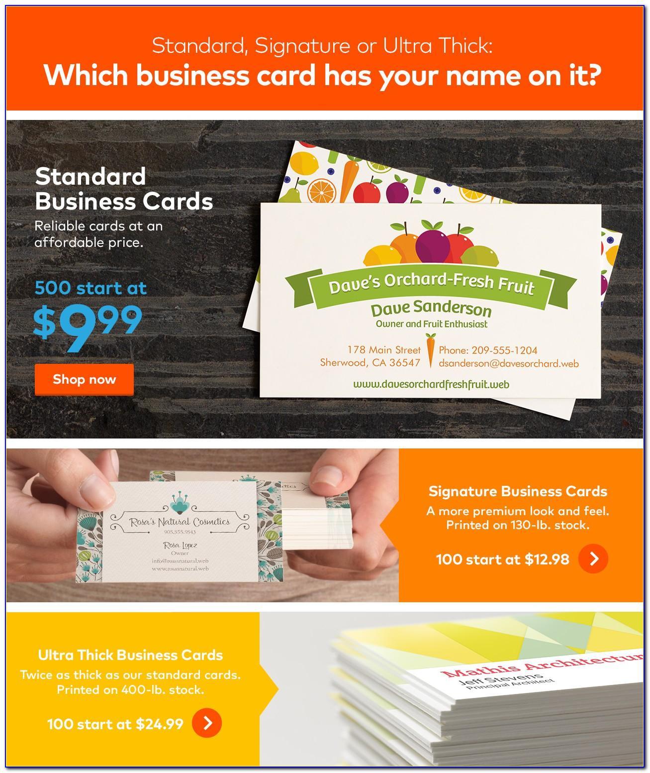 Vistaprint Construction Business Cards