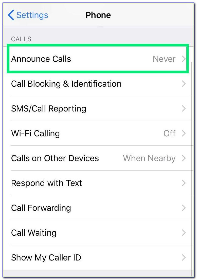 Voice Announce Caller Id Iphone
