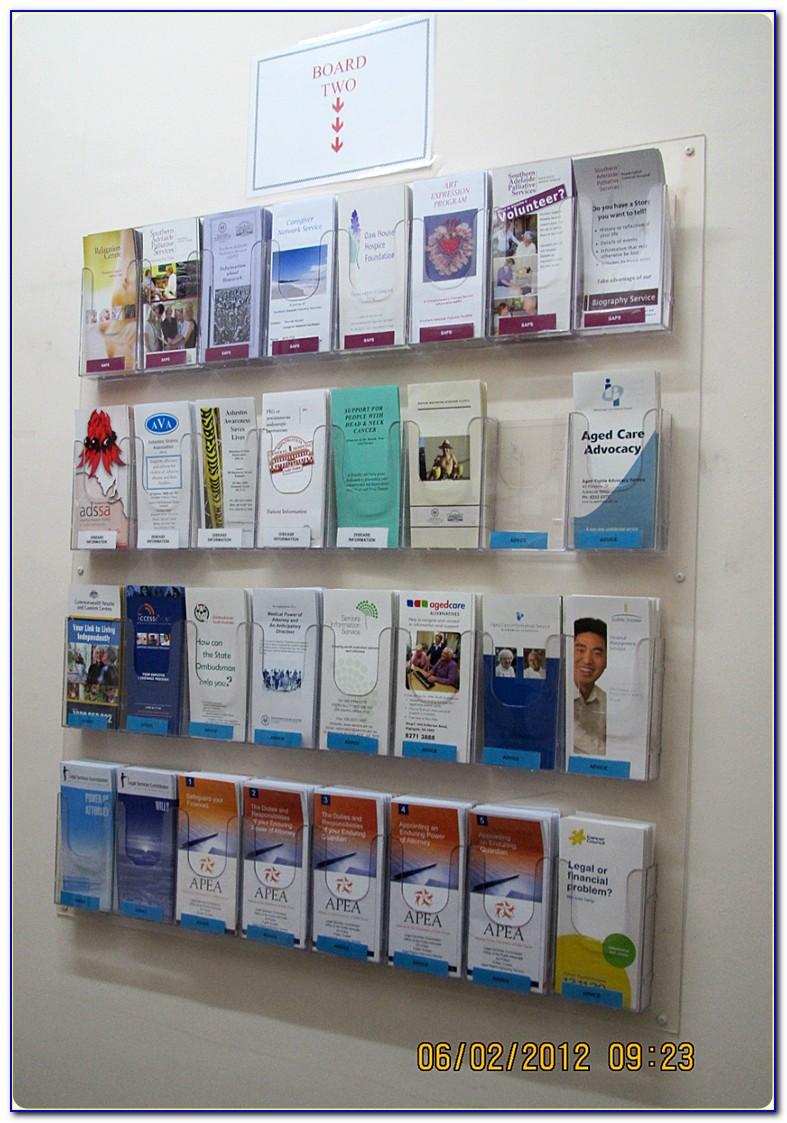 Wall Brochure Display Racks