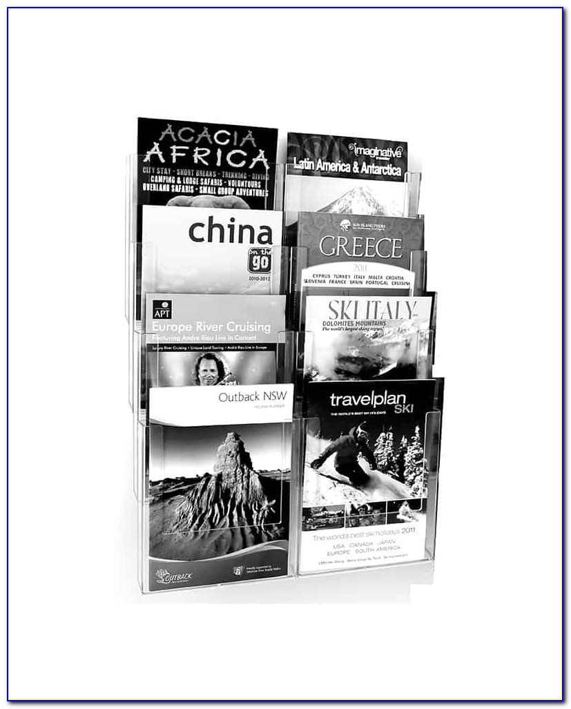 Wall Mounted Brochure Holders A4