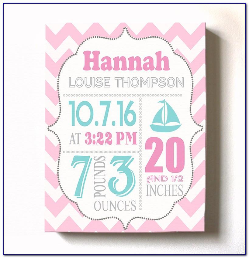 Walmart Photo Center Birth Announcements