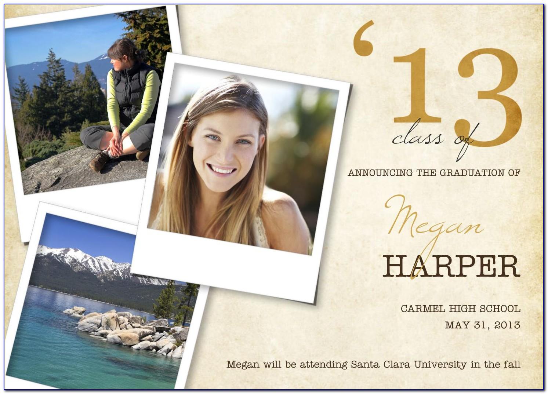 Walmart Photo Graduation Invitation