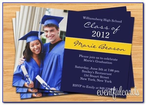 Watercolor Graduation Announcements