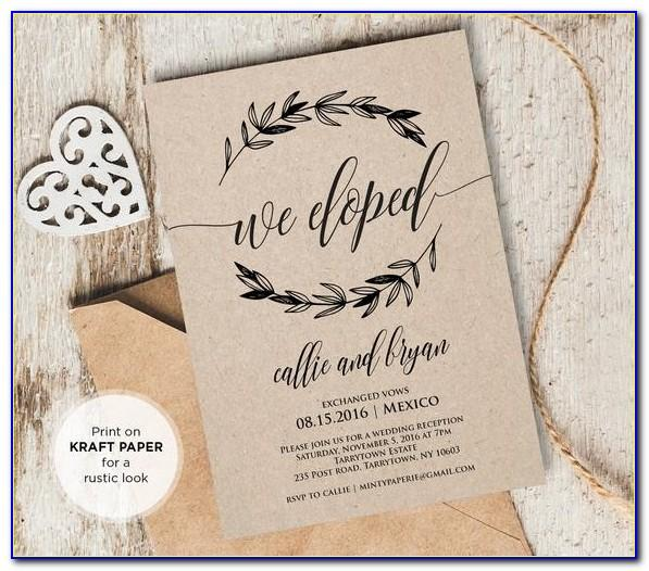 We Eloped Announcements