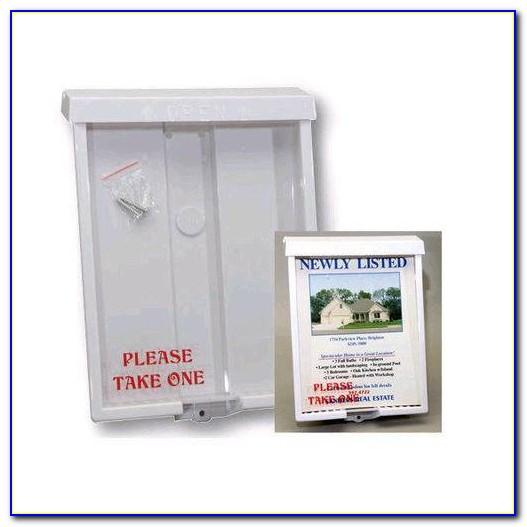 Weatherproof Outdoor Brochure Box