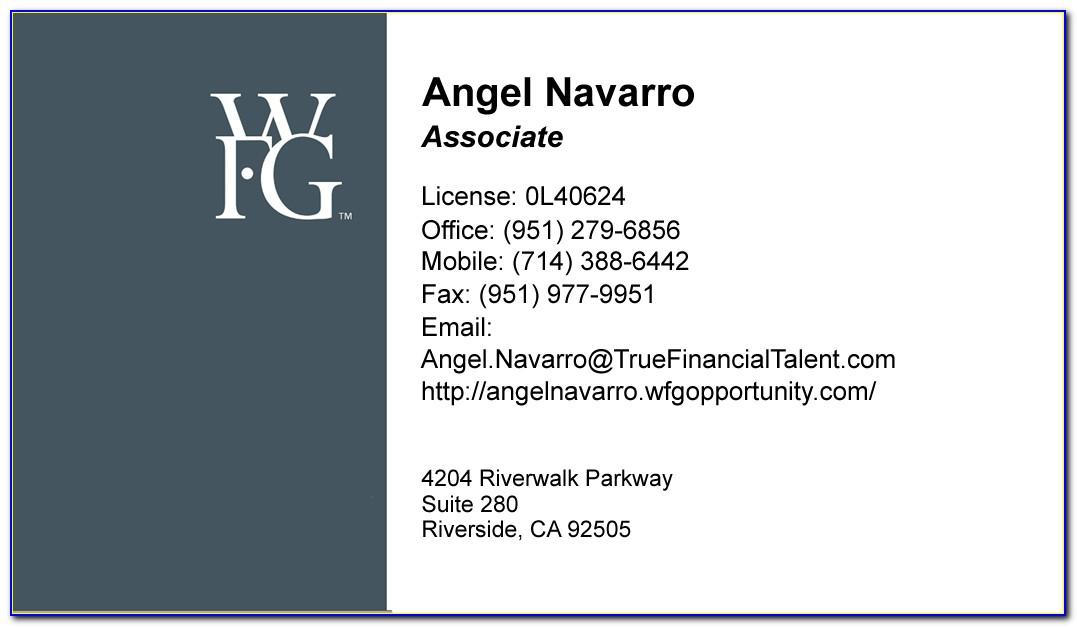 Wfg Business Cards