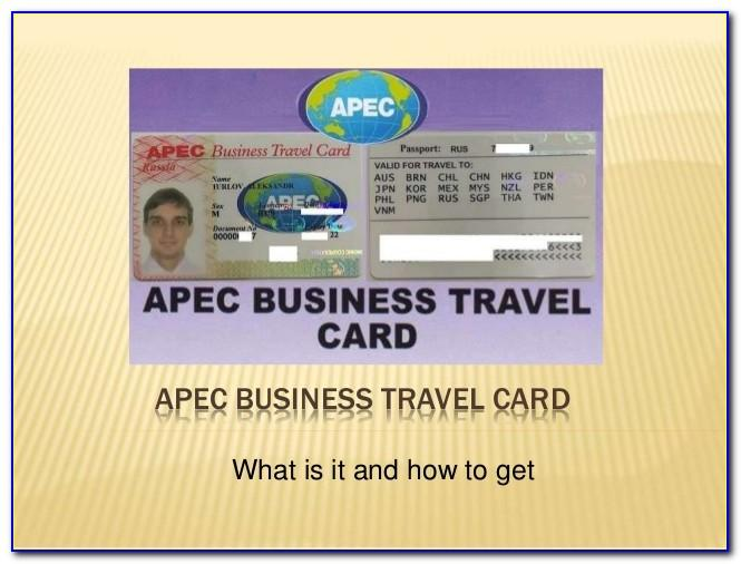 What Is Apec Business Travel Card Usa