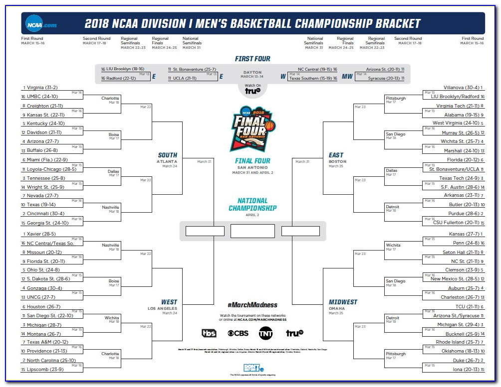 What Time Is The Ncaa Bracket Announced