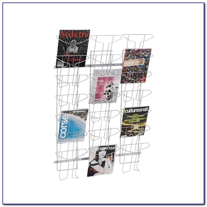 Wire Brochure Racks Wall Mounted