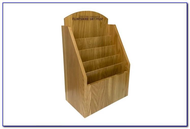 Wood Brochure Rack