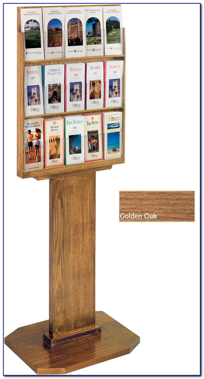 Wood Wall Brochure Holder
