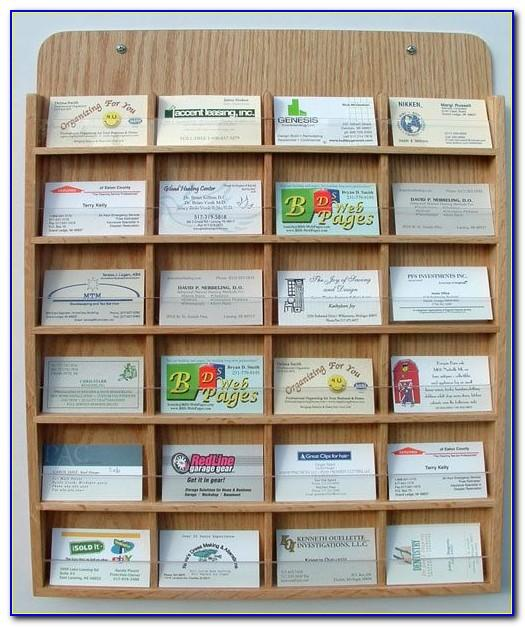 Wooden Wall Mount Business Card Holder