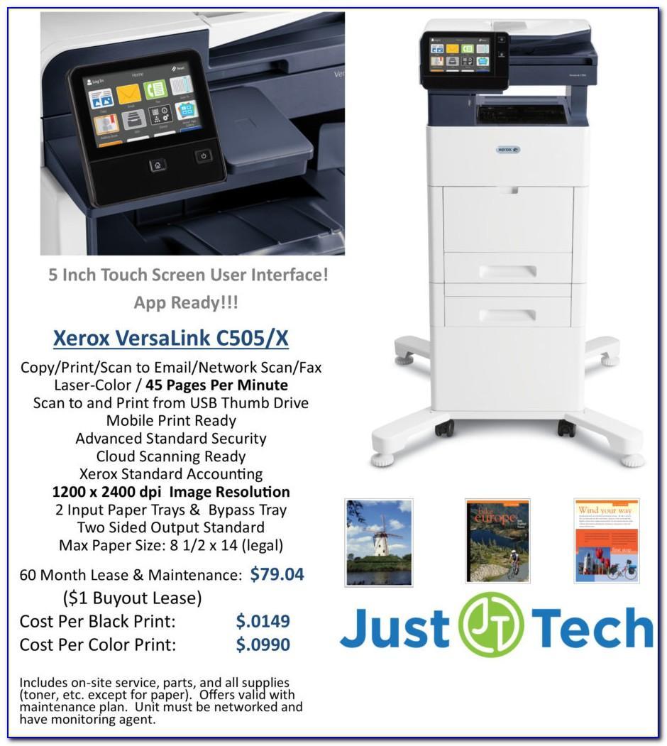 Xerox Versalink C505 Detailed Specifications