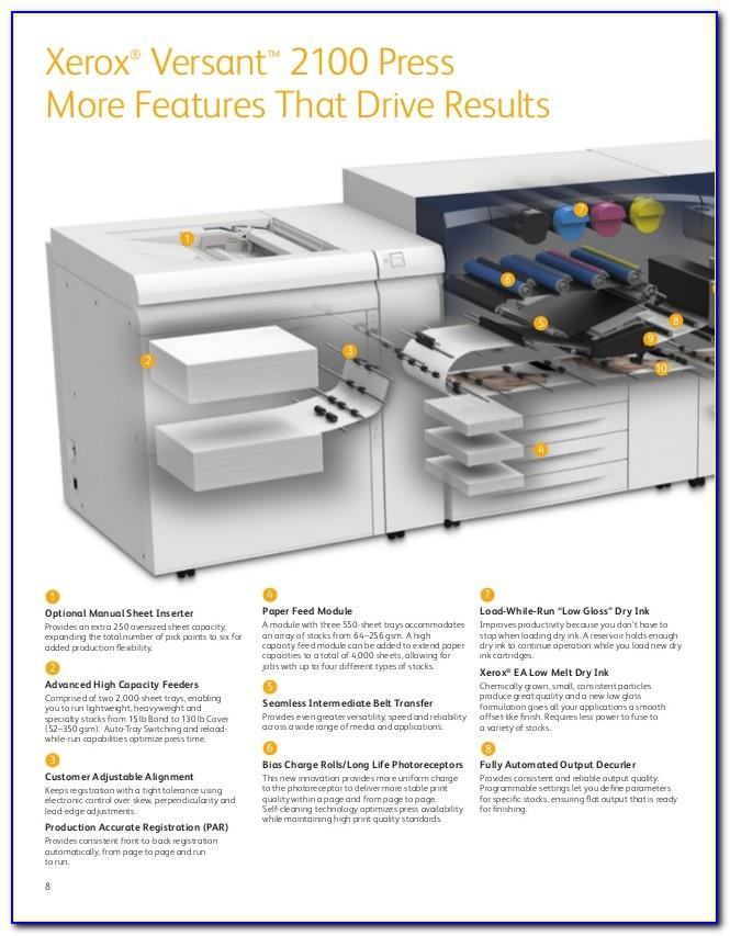 Xerox Versant 2100 Press Brochure