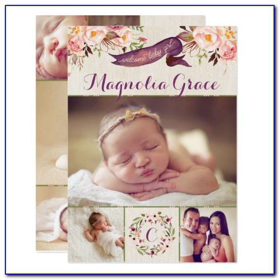 Zazzle Baby Announcement Cards