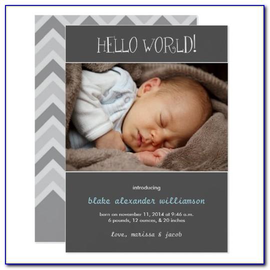 Zazzle Birth Announcement Cards