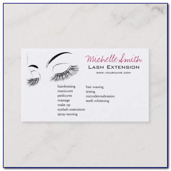 Zazzle Eyelash Extension Business Cards