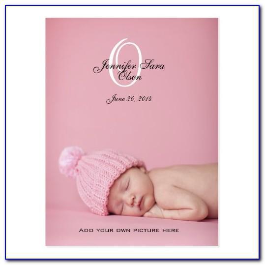 Zazzle Girl Birth Announcements