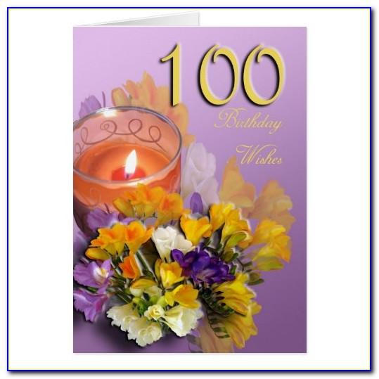 100 Year Old Birthday Card Printable