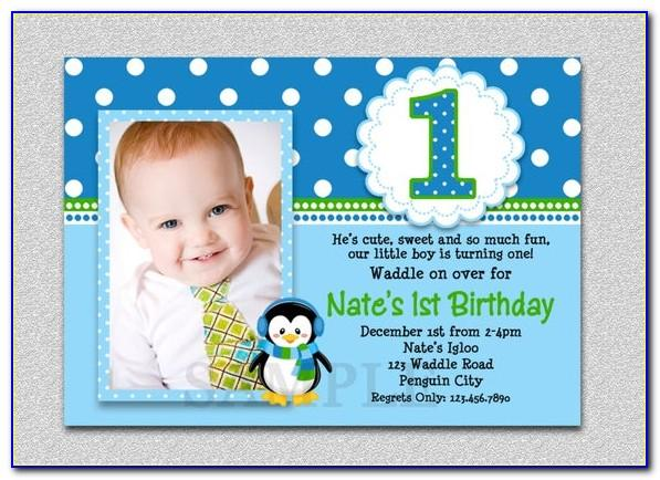 1st Birthday Invitation Card For Baby Boy Online