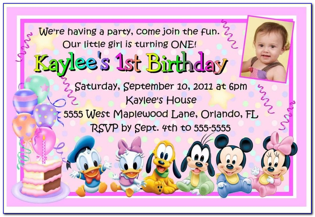 1st Birthday Invitation Card For Baby Boy Template