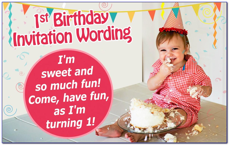 1st Birthday Invitation Card For Baby Girl India