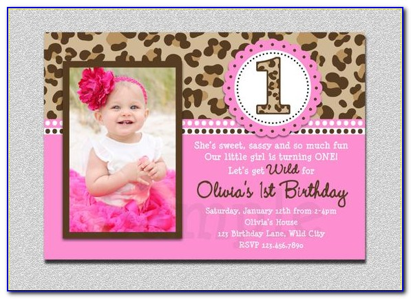 1st Birthday Invitation Card For Baby Girl Minnie Mouse