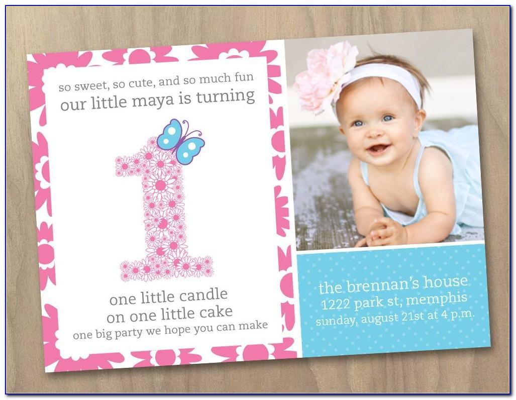 1st Birthday Invitation Card Online Editing