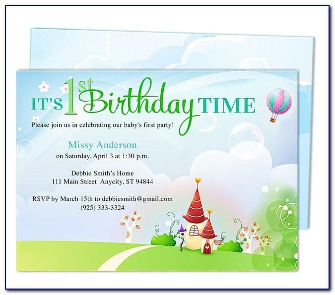 1st Birthday Invitation Card Online Free