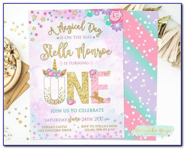 1st Birthday Invitation Cards For Daughter