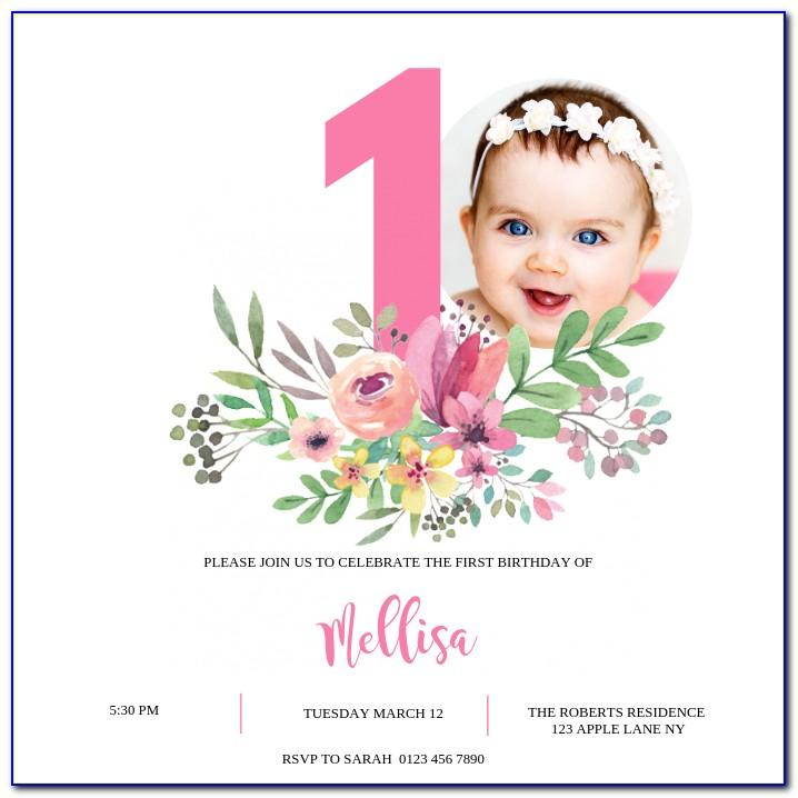 1st Birthday Photo Thank You Cards