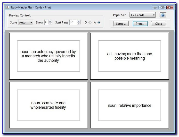 3x5 Index Card Template For Word