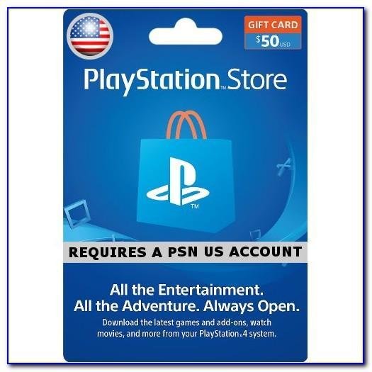 50$ Playstation Card Free