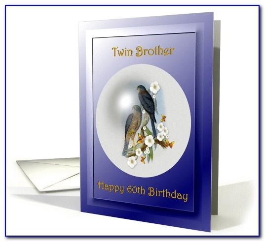 60th Birthday Card For Twin Brother