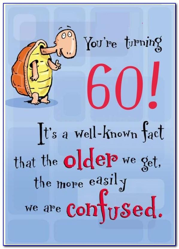 60th Birthday Card Messages Funny