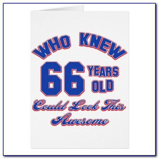 66 Year Old Birthday Card