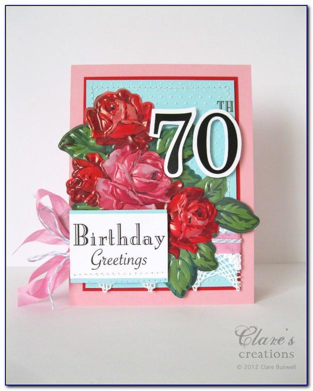 70th Birthday Greeting Card Wording