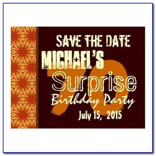 70th Birthday Party Save The Date Cards