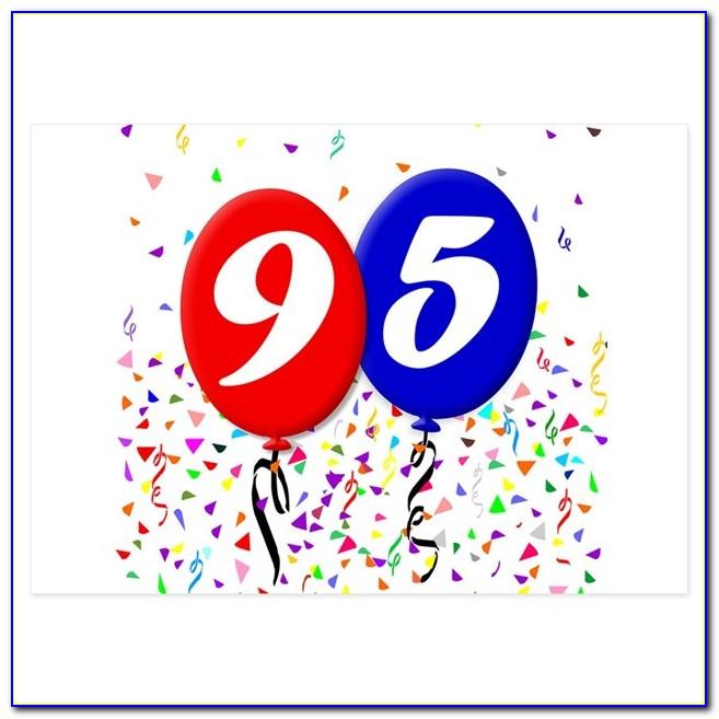 95th Birthday Card Female