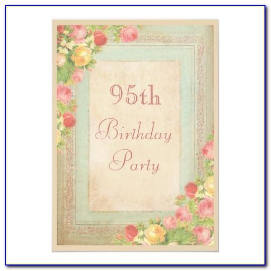 95th Birthday Card Uk