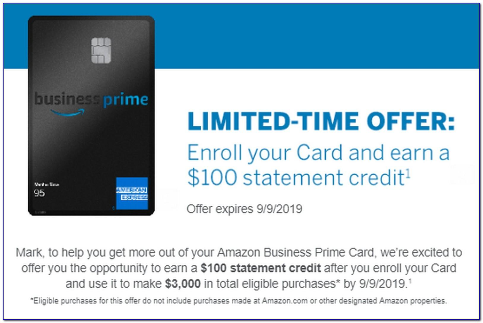 American Express Business Prime Credit Card