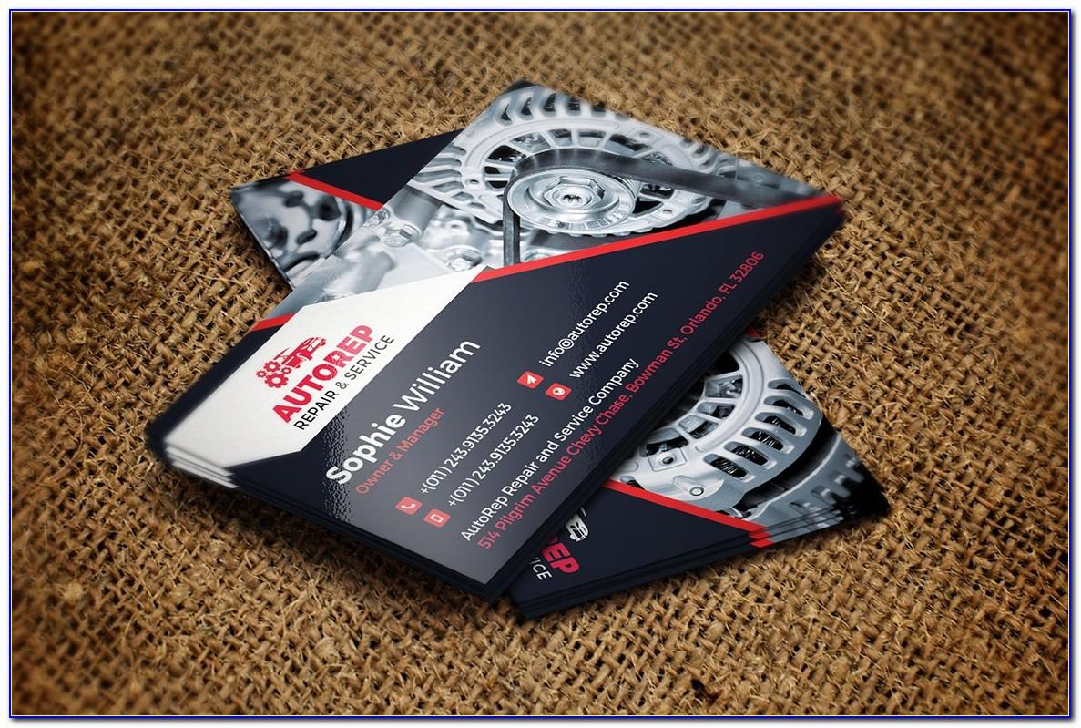 Automotive Repair Business Card Template