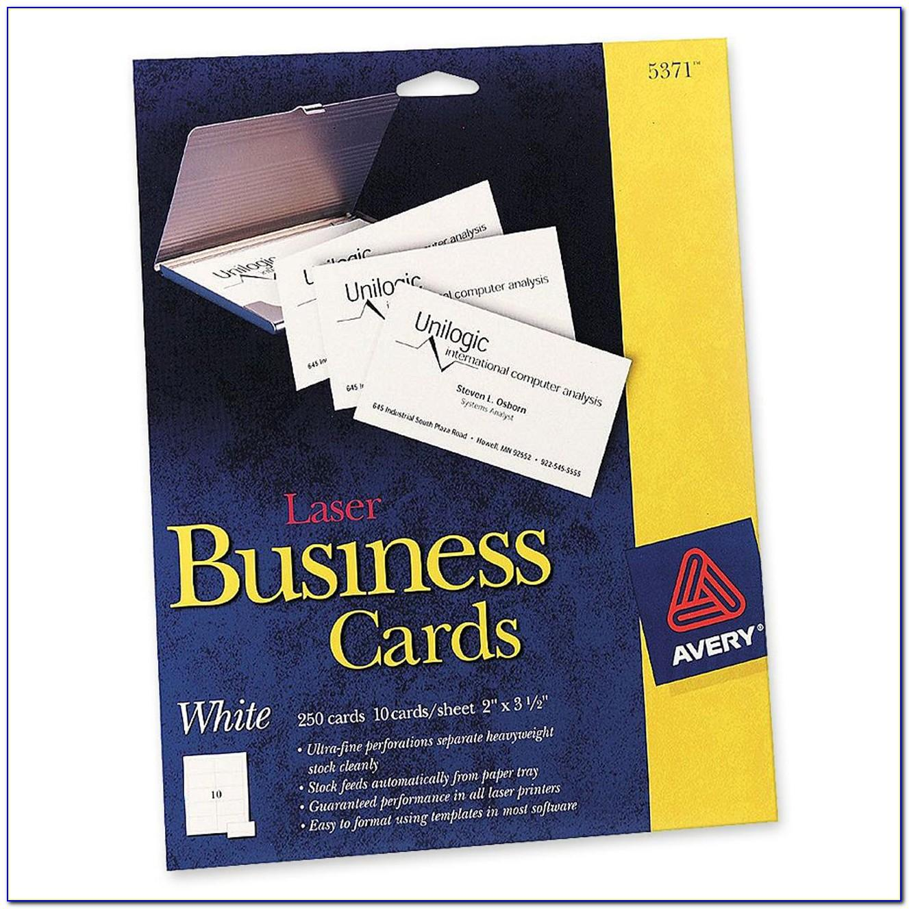 Avery Perforated Business Card Stock