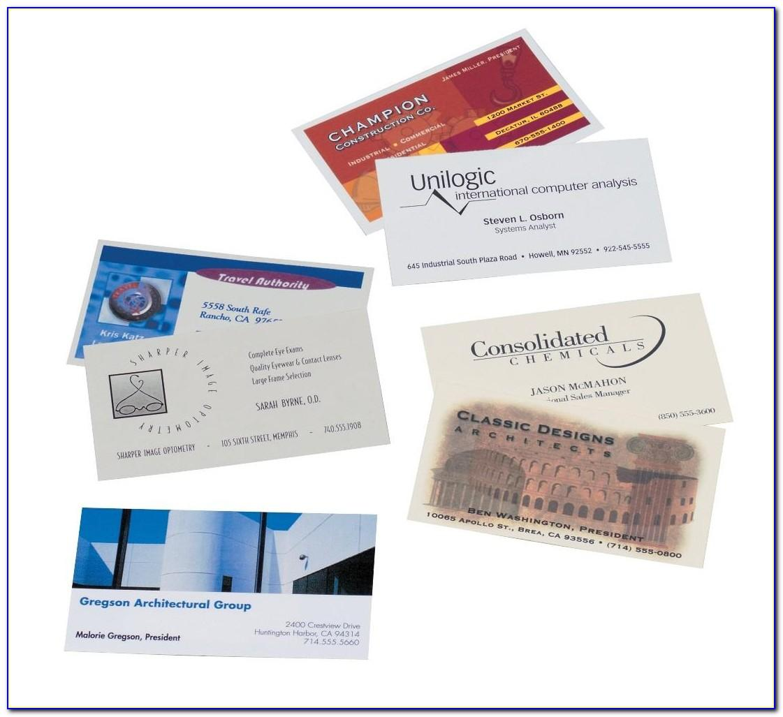 Avery Print Your Own Business Cards