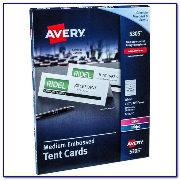 Avery Tent Card Template Small