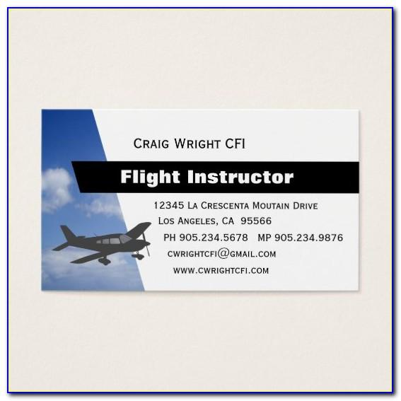 Aviation Business Cards Templates
